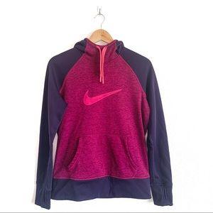 Nike Purple Pink Hooded Sweatshirt Size Medium
